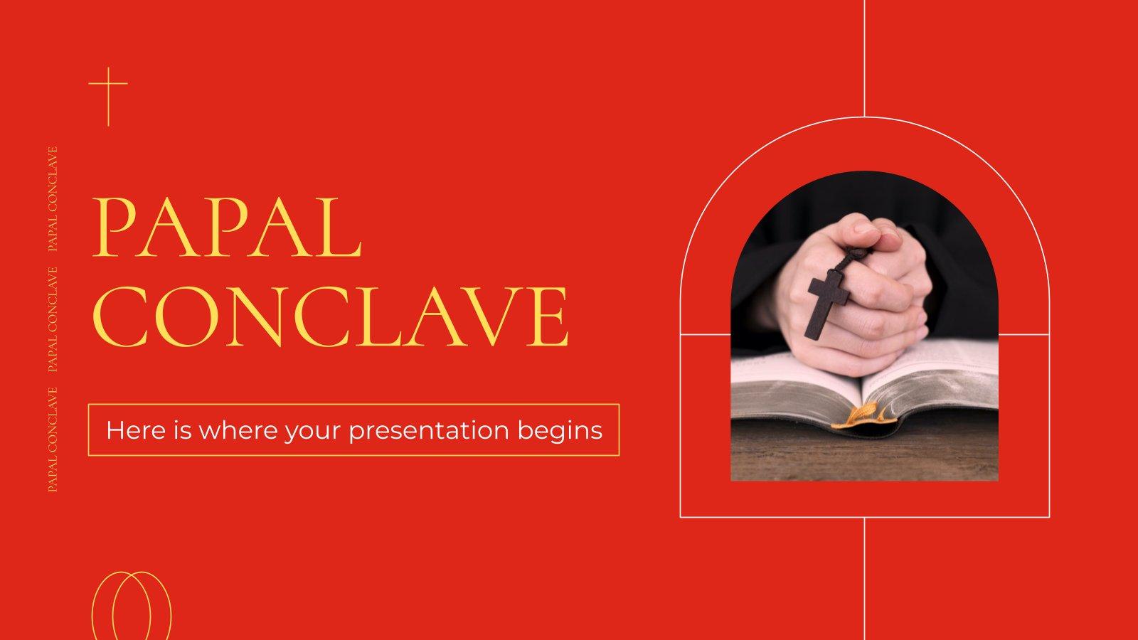 Modelo de apresentação Conclave papal