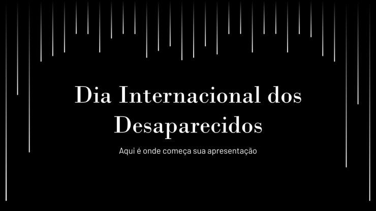 Journée internationale des victimes de disparition forcée : Modèles de présentation