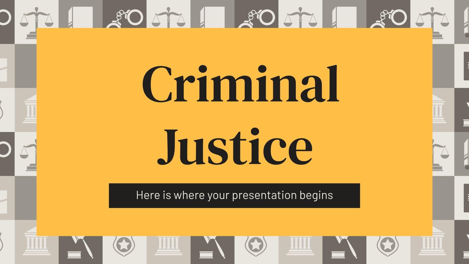 Strafjustiz Präsentationsvorlage