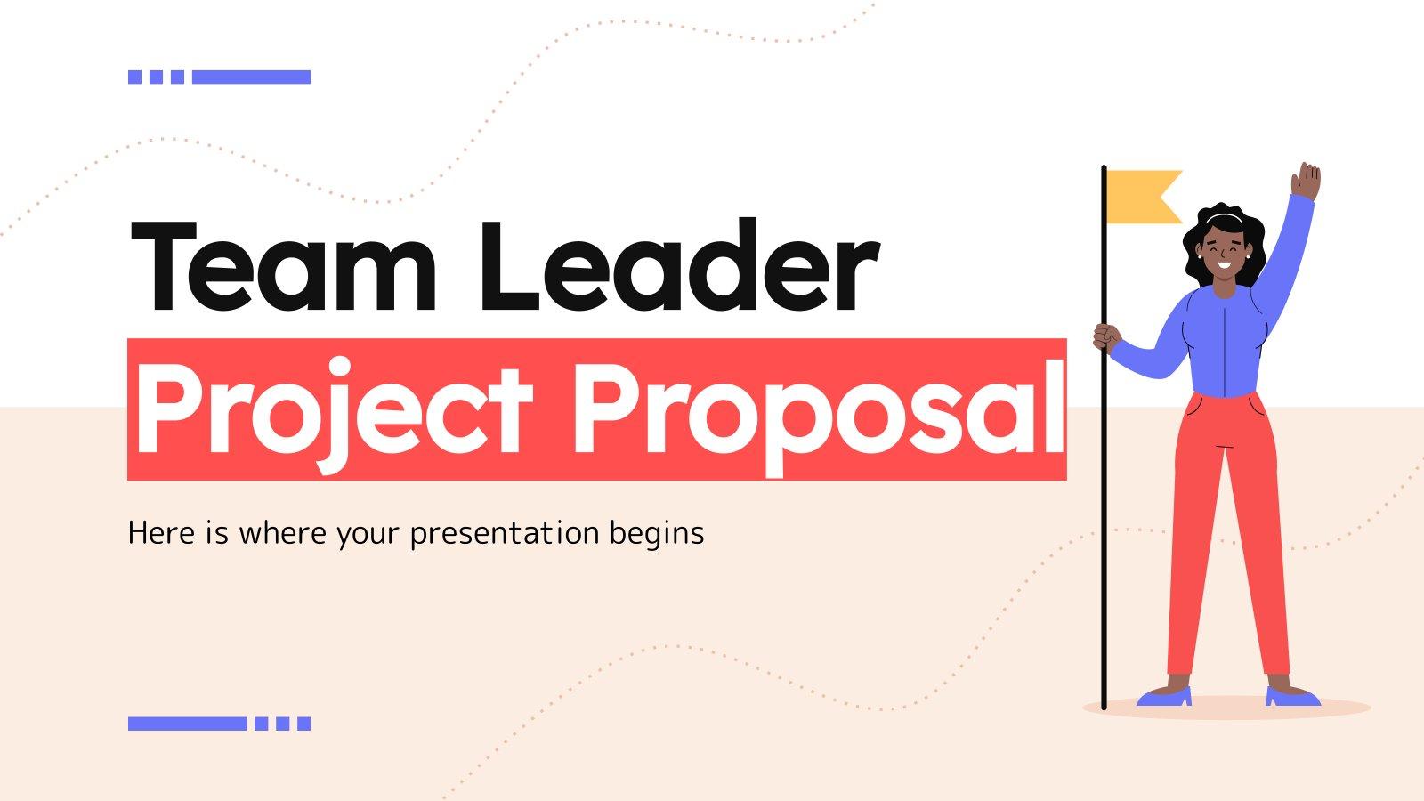 Teamleiter Projektvorschlag Präsentationsvorlage