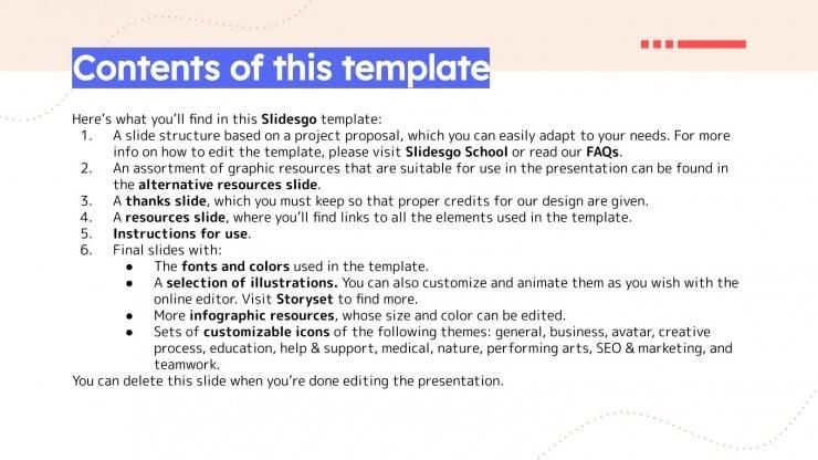 Team Leader Project Proposal presentation template