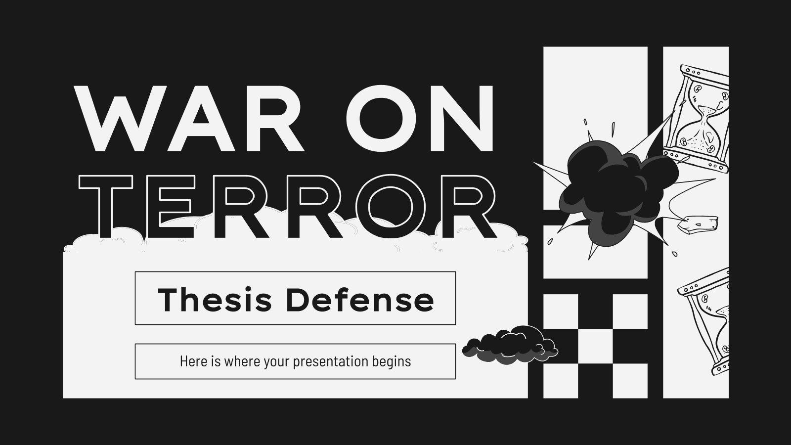 War on Terror Thesis Defense presentation template