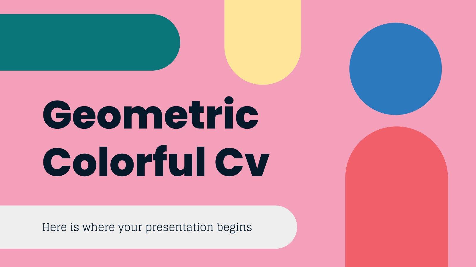 Geometrisch Buntes CV Präsentationsvorlage