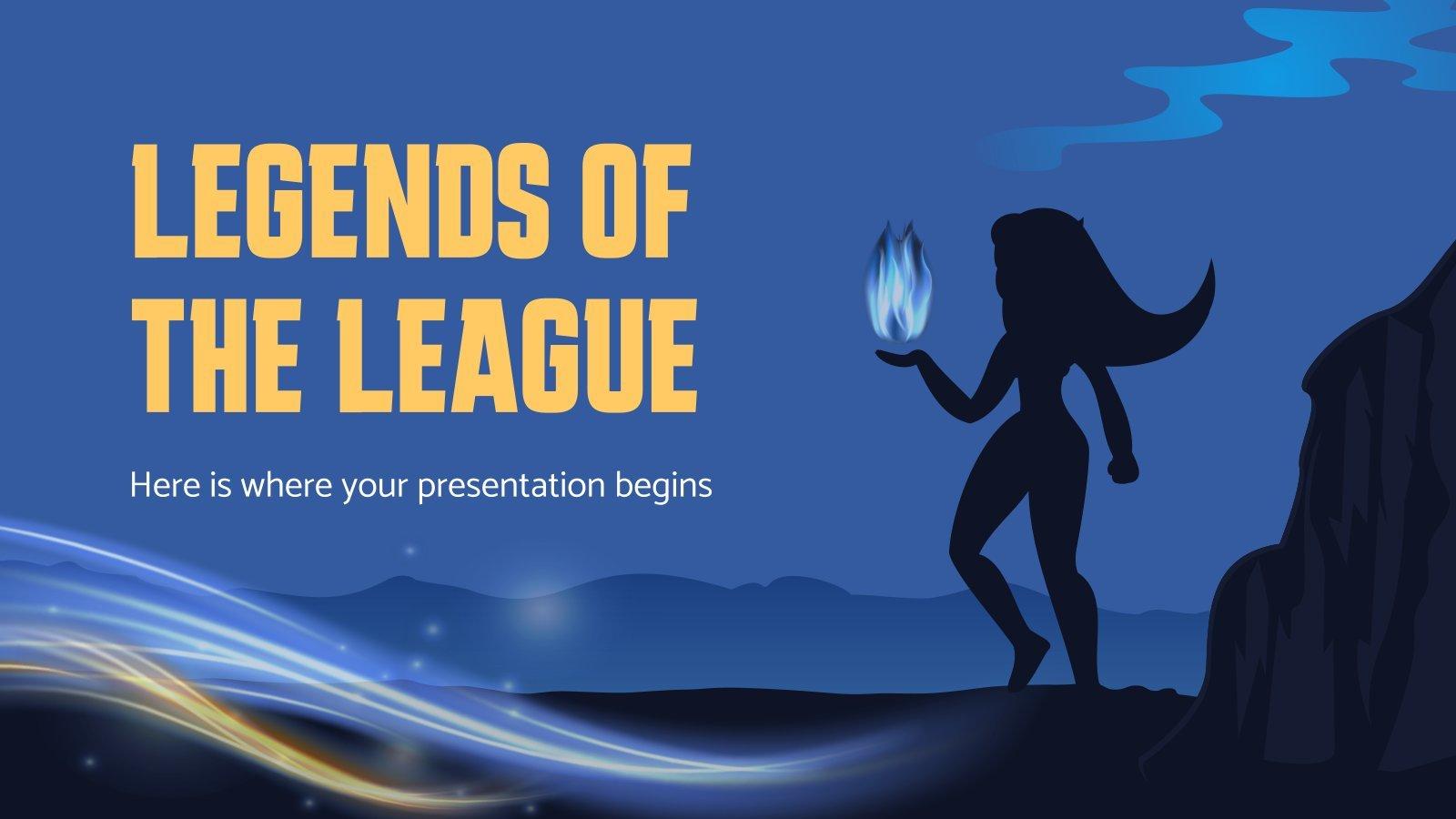 Legends Of The League Präsentationsvorlage