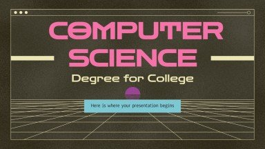 Computer Science Degree for College presentation template