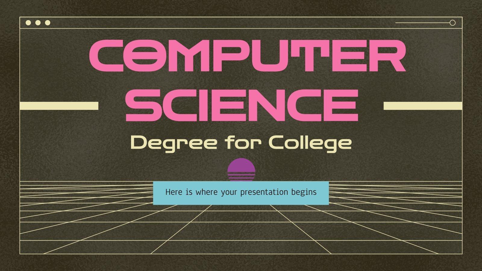 Informatik Studium Präsentationsvorlage