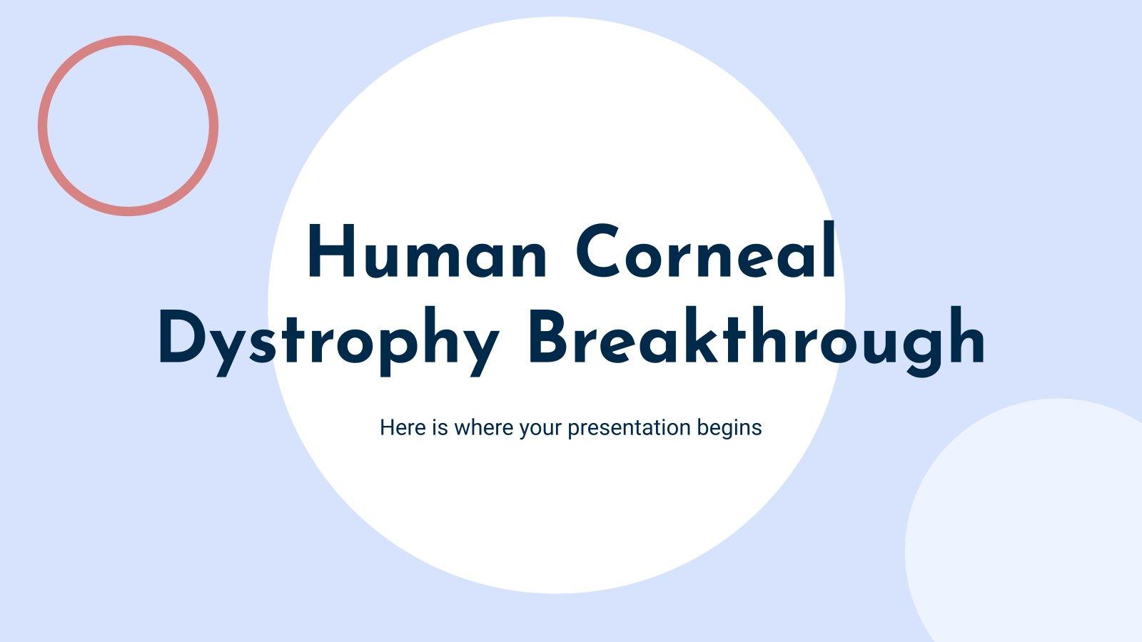 Plantilla de presentación Descubrimientos sobre enfermedades de la córnea
