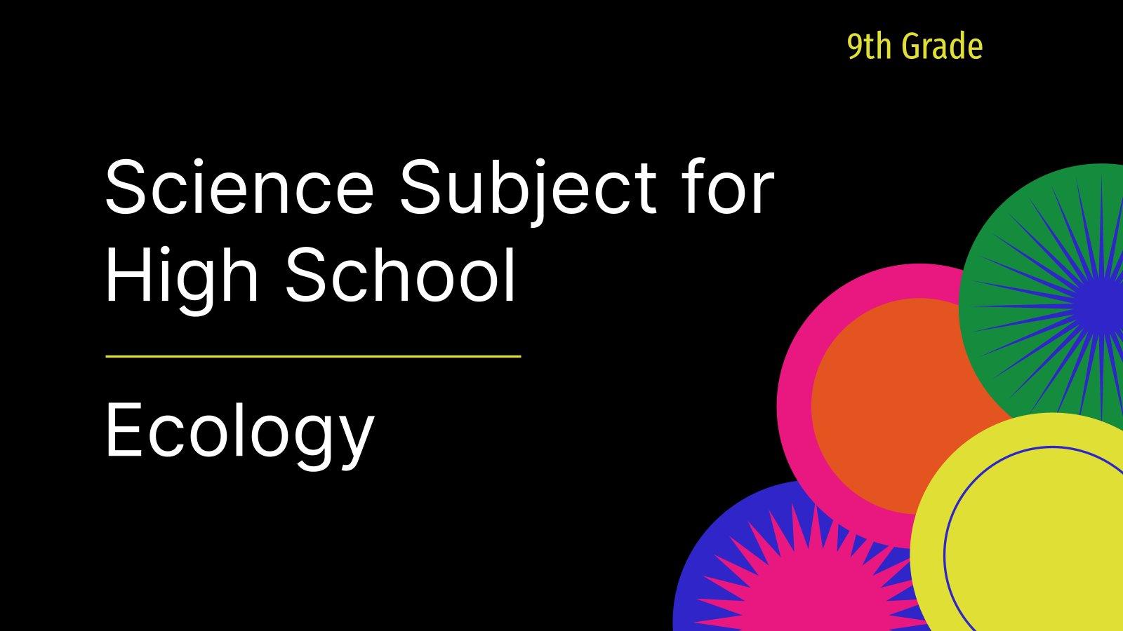 Modelo de apresentação Ciência para o ensino médio: Ecologia
