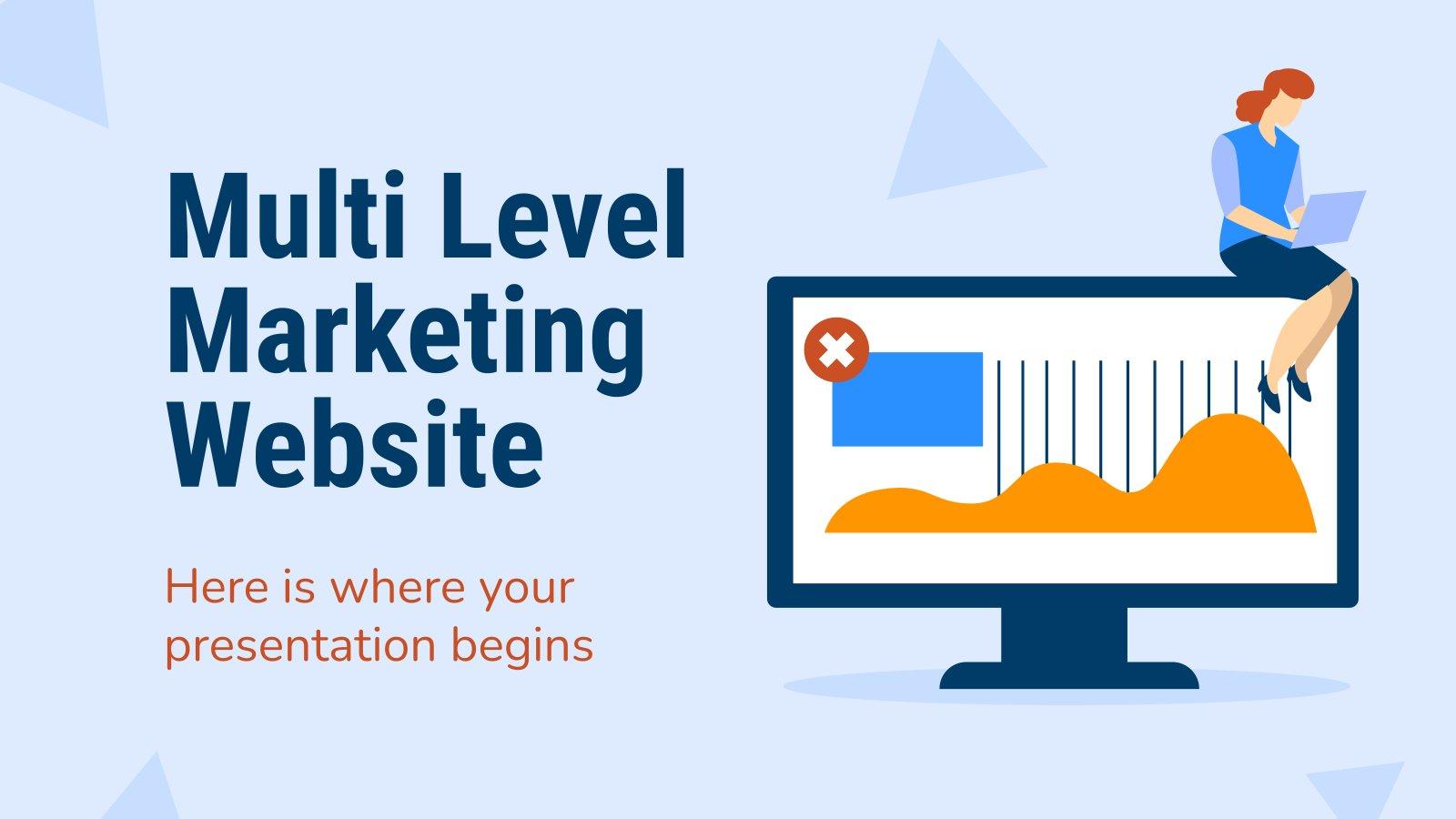 Netzwerk-Marketing Website Präsentationsvorlage