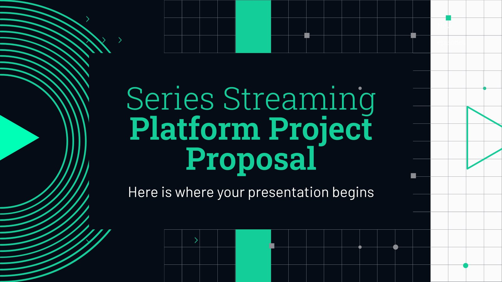 Series Streaming Platform Project Proposal presentation template