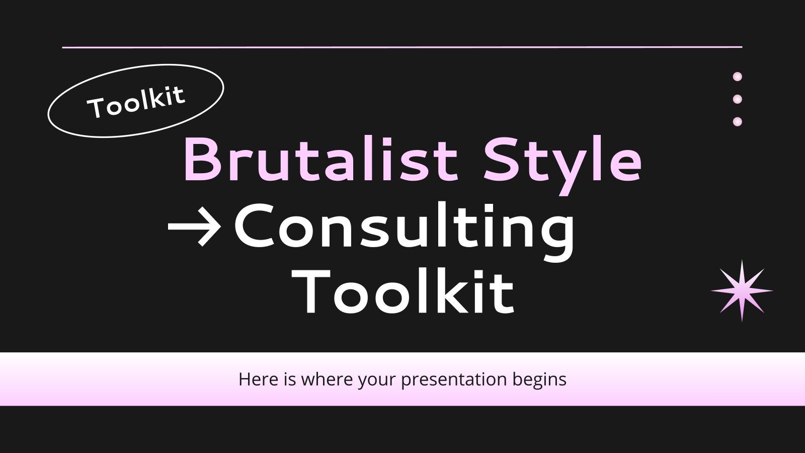 Beratungs-Toolkit im brutalistischen Stil Präsentationsvorlage