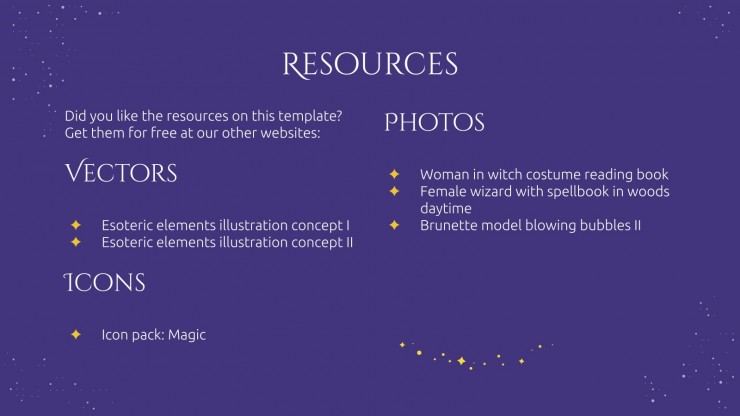 Wizard's Education Planner presentation template