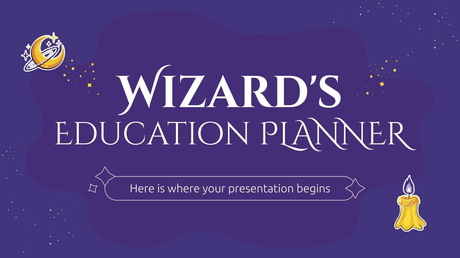 Modelo de apresentação Planejador escolar para feiticeiros