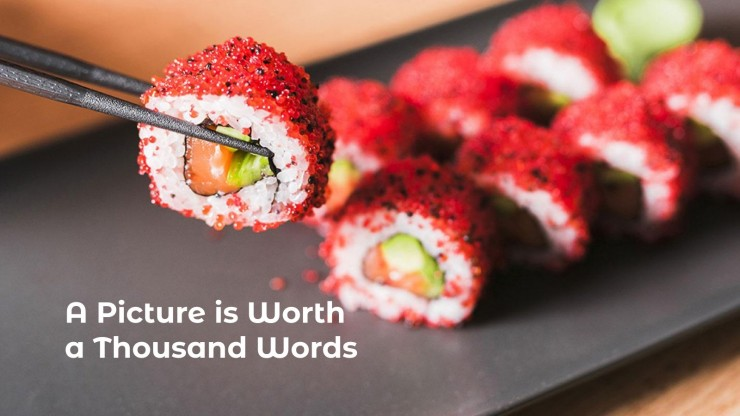 Plantilla de presentación Cómo hacer arte con sushi