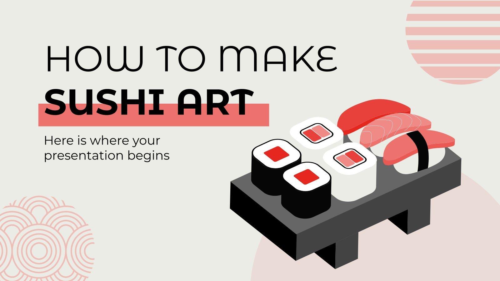 Sushi Art selber machen Präsentationsvorlage