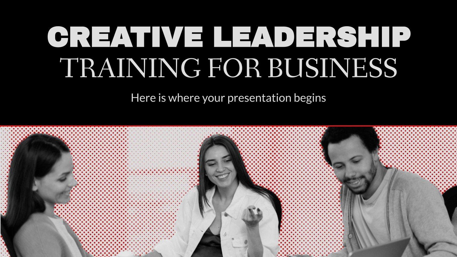 Modelo de apresentação Treinamento de liderança criativa para empresas