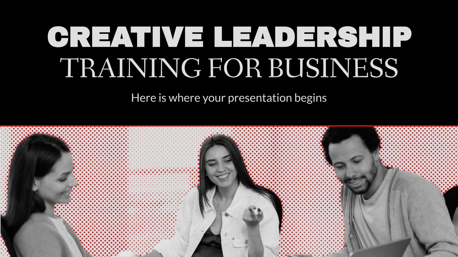 Creative Leadership Training for Business presentation template