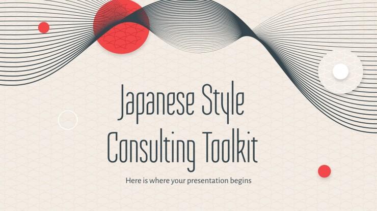 Boîte à outils de conseil en style japonais : Modèles de présentation
