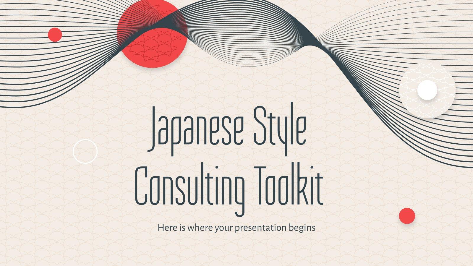 Beratungs-Toolkit im japanischen Stil Präsentationsvorlage