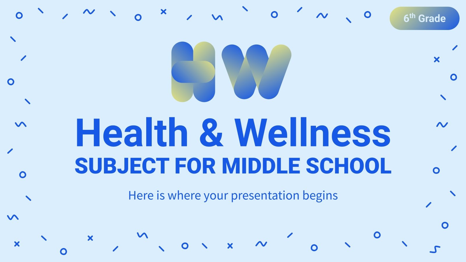Health & Wellness Subject for Middle School - 6th Grade: Mental, Emotional, and Social Health presentation template