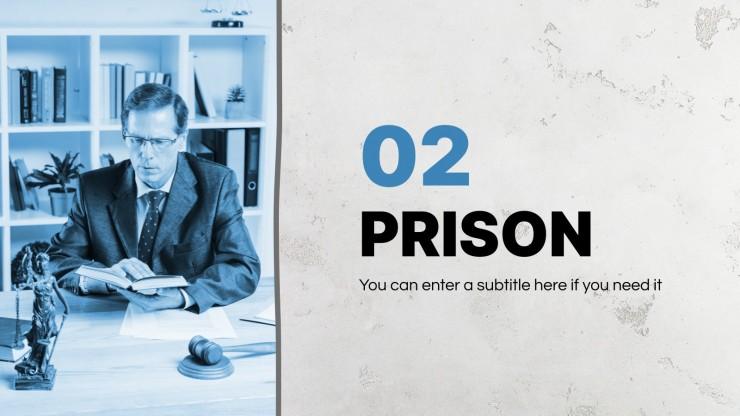 Modelo de apresentação Comparação entre prisão e cárcere