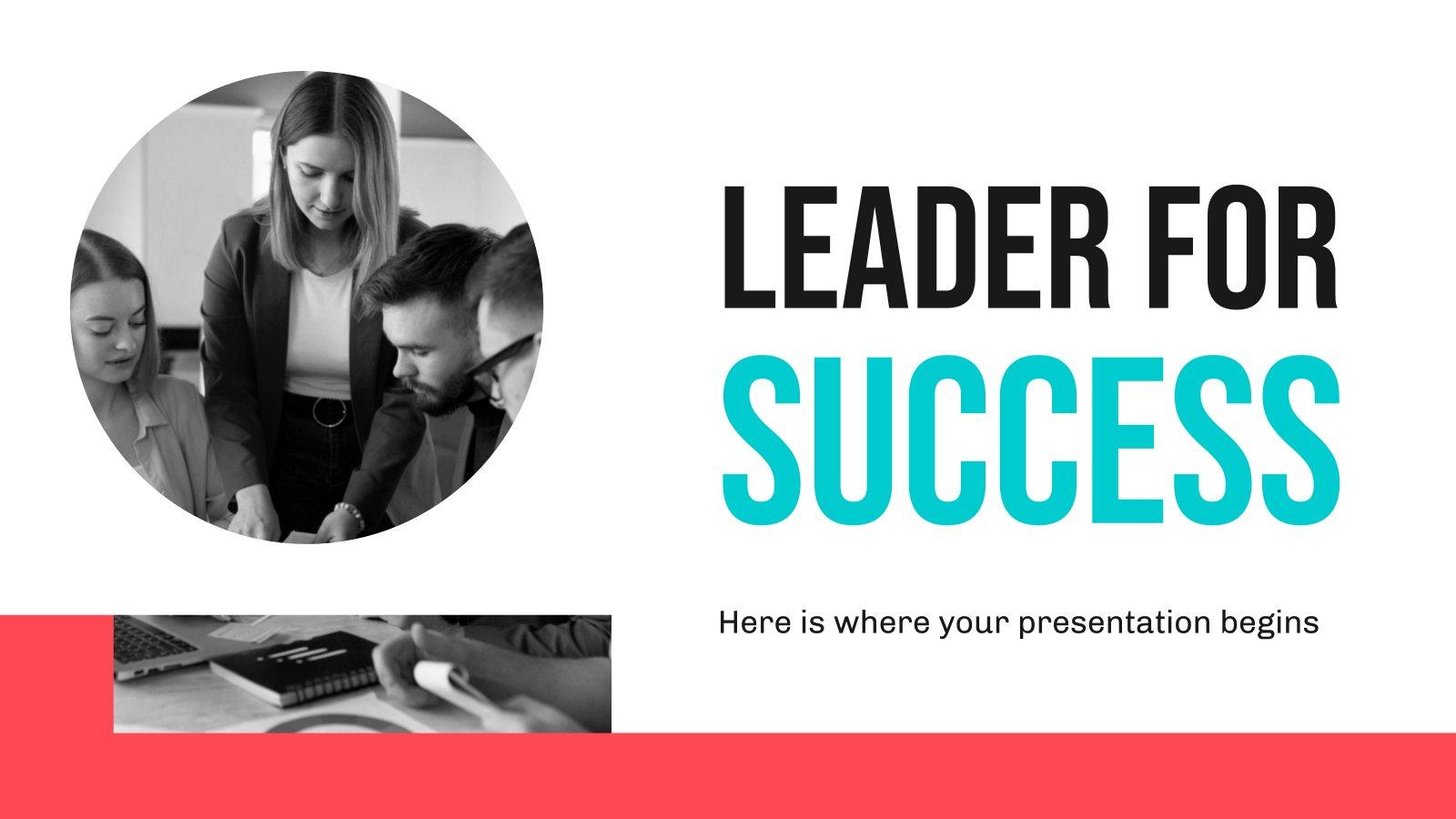 Leiter für Erfolg Präsentationsvorlage