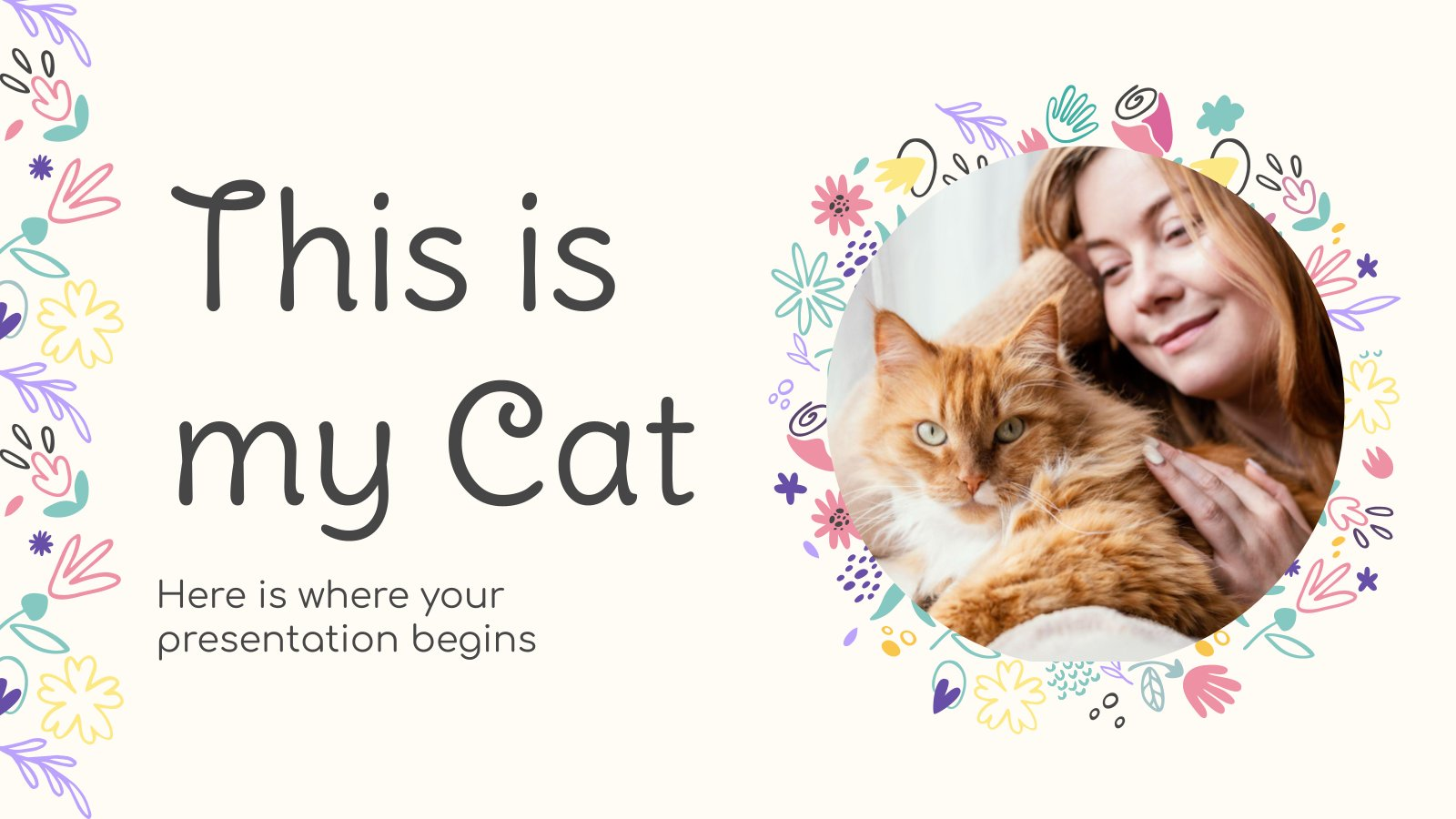 C'est mon chat : Modèles de présentation