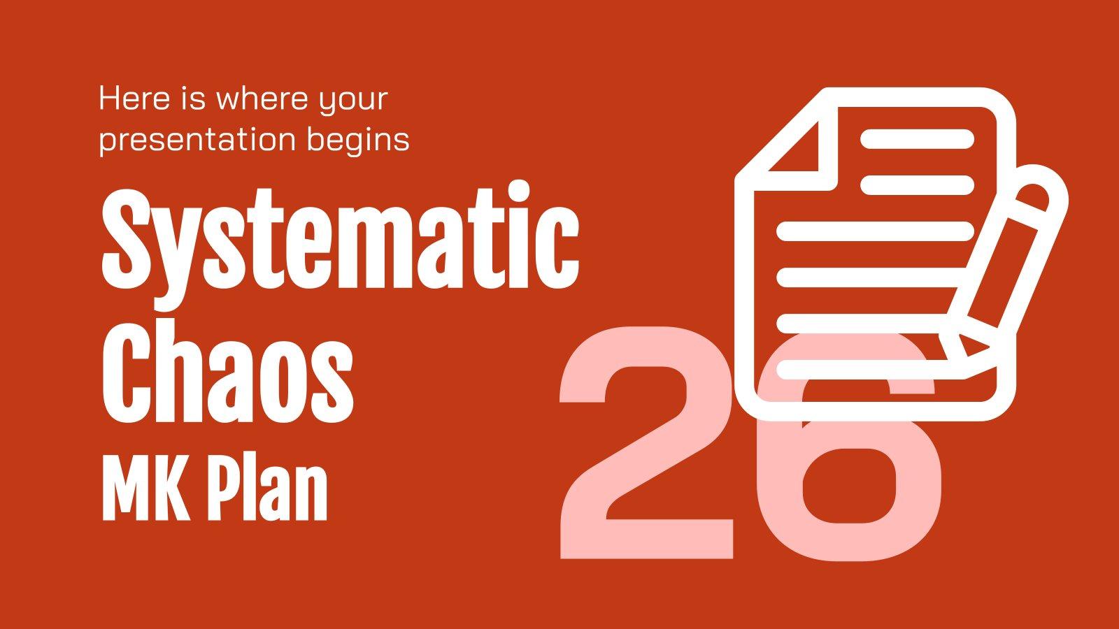 Plantilla de presentación Plan de marketing caos sistemático