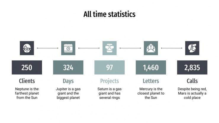 Design Agentur Infografiken Präsentationsvorlage