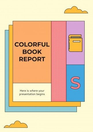 Colorful Book Report A4