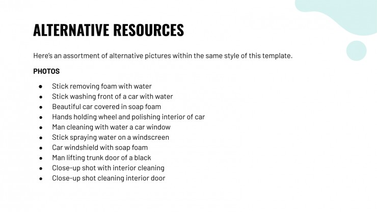 Plantilla de presentación Plan de negocio lavado de autos