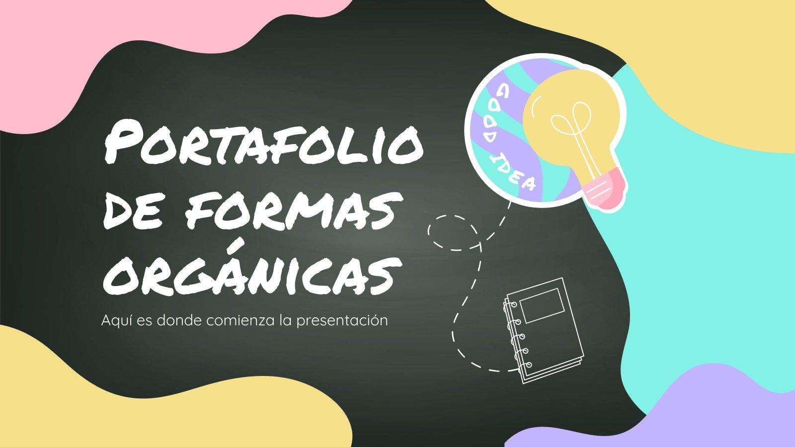 Plantilla de presentación Portafolio de Formas Orgánicas