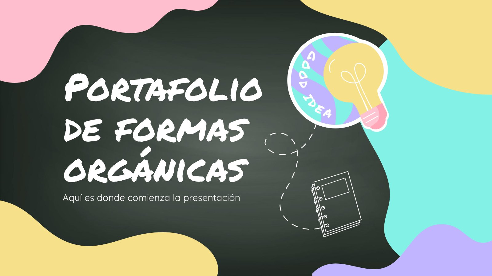 Portafolio de Formas Orgánicas Präsentationsvorlage