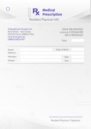 Printable Pharmaceutical Prescription presentation template