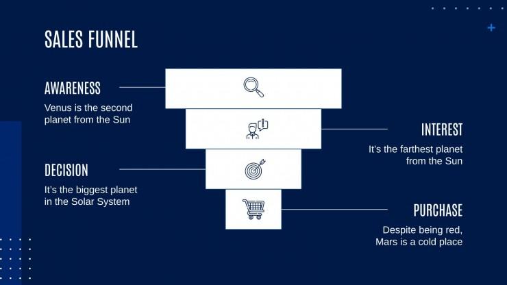 Modelo de apresentação Um plano de marketing bastante notável