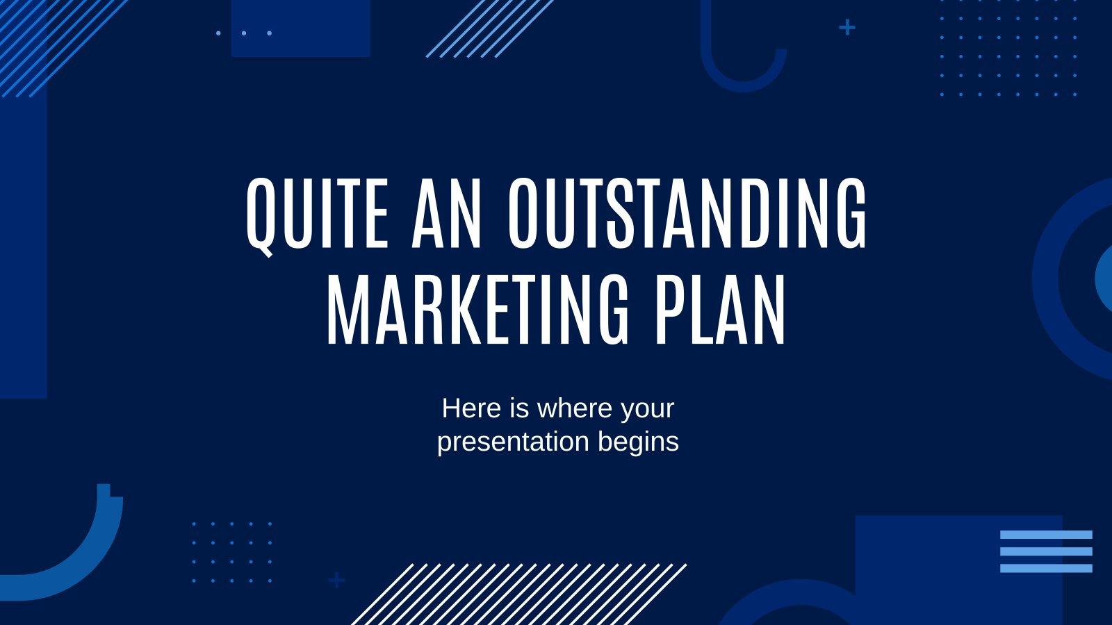 Ein narrensicherer Marketingplan Präsentationsvorlage