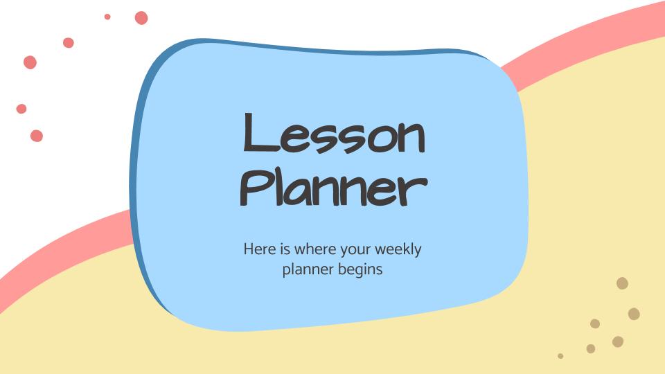 Planificateur de cours : Modèles de présentation