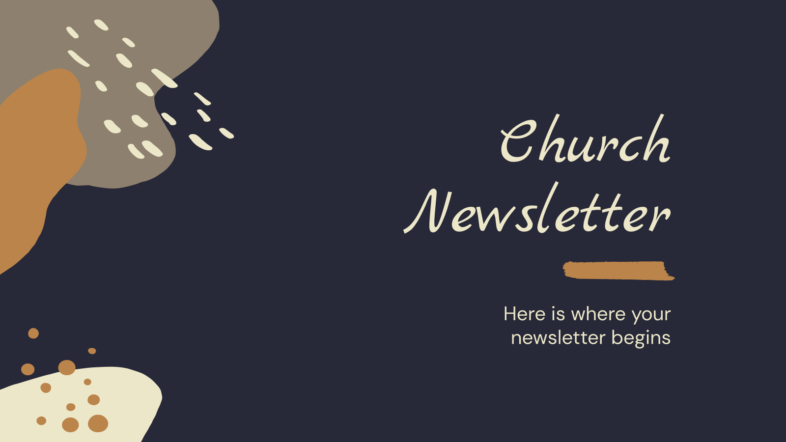 Church Newsletter presentation template