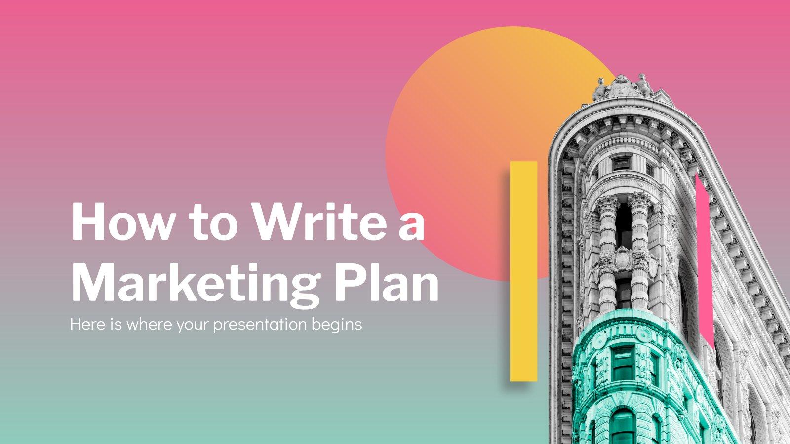 Plantilla de presentación Cómo redactar un plan de marketing