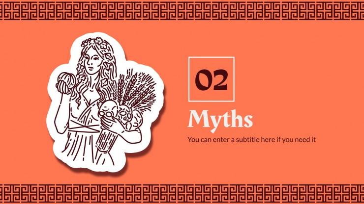 Sprache für die 9. Klasse: Mythologie Präsentationsvorlage