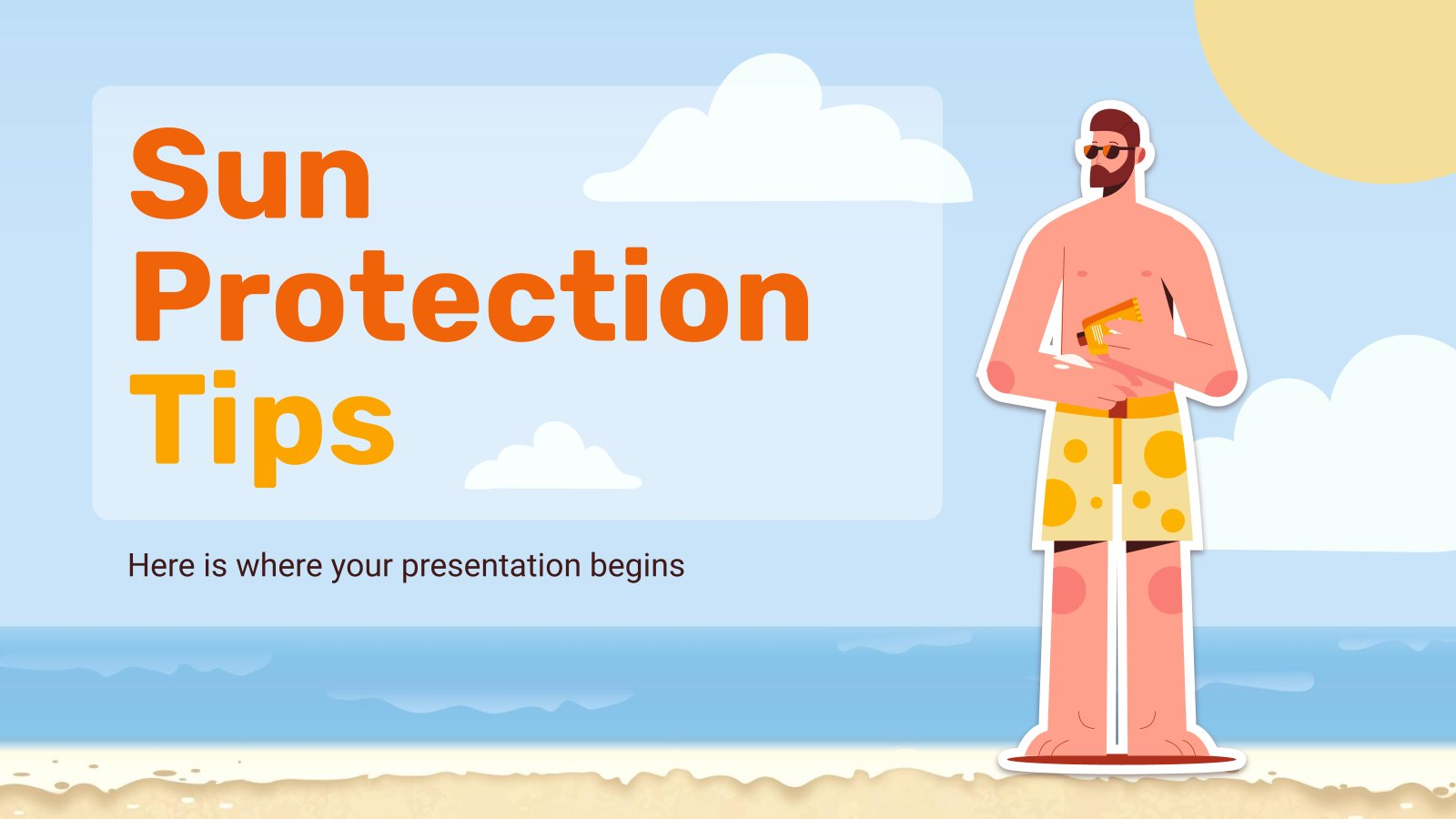 Sun Protection Tips presentation template