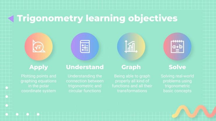 Math Subject for High School - 9th Grade: Trigonometry presentation template
