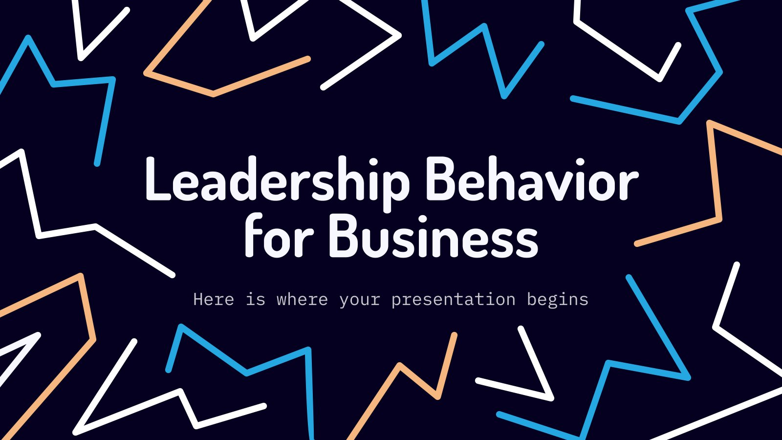 Modelo de apresentação Comportamento de liderança