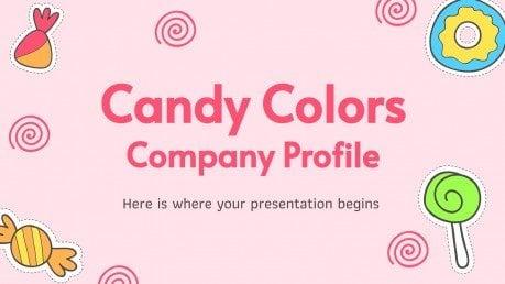 Firmenprofil Candy Colors Präsentationsvorlage
