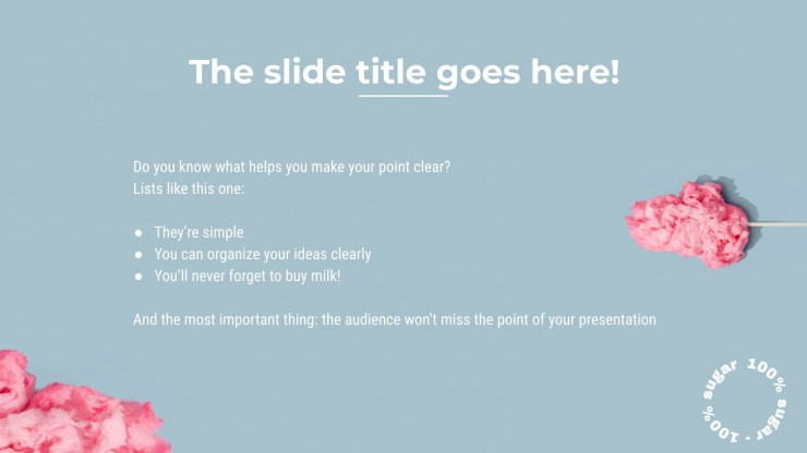 Candy Pastel Colors Newsletter presentation template