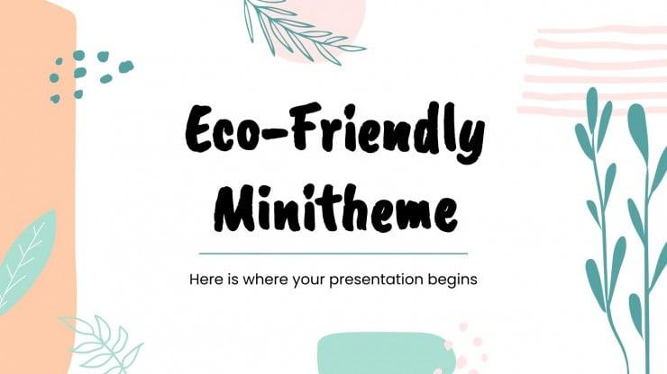 Plantilla de presentación Minitema ecológico