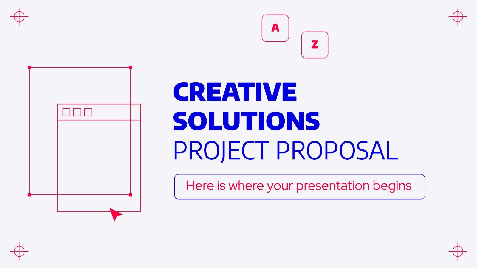 Modelo de apresentação Proposta de projeto de soluções criativas