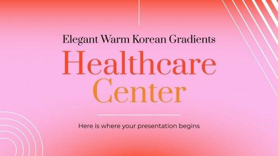 Plantilla de presentación Centro de salud con degradados cálidos