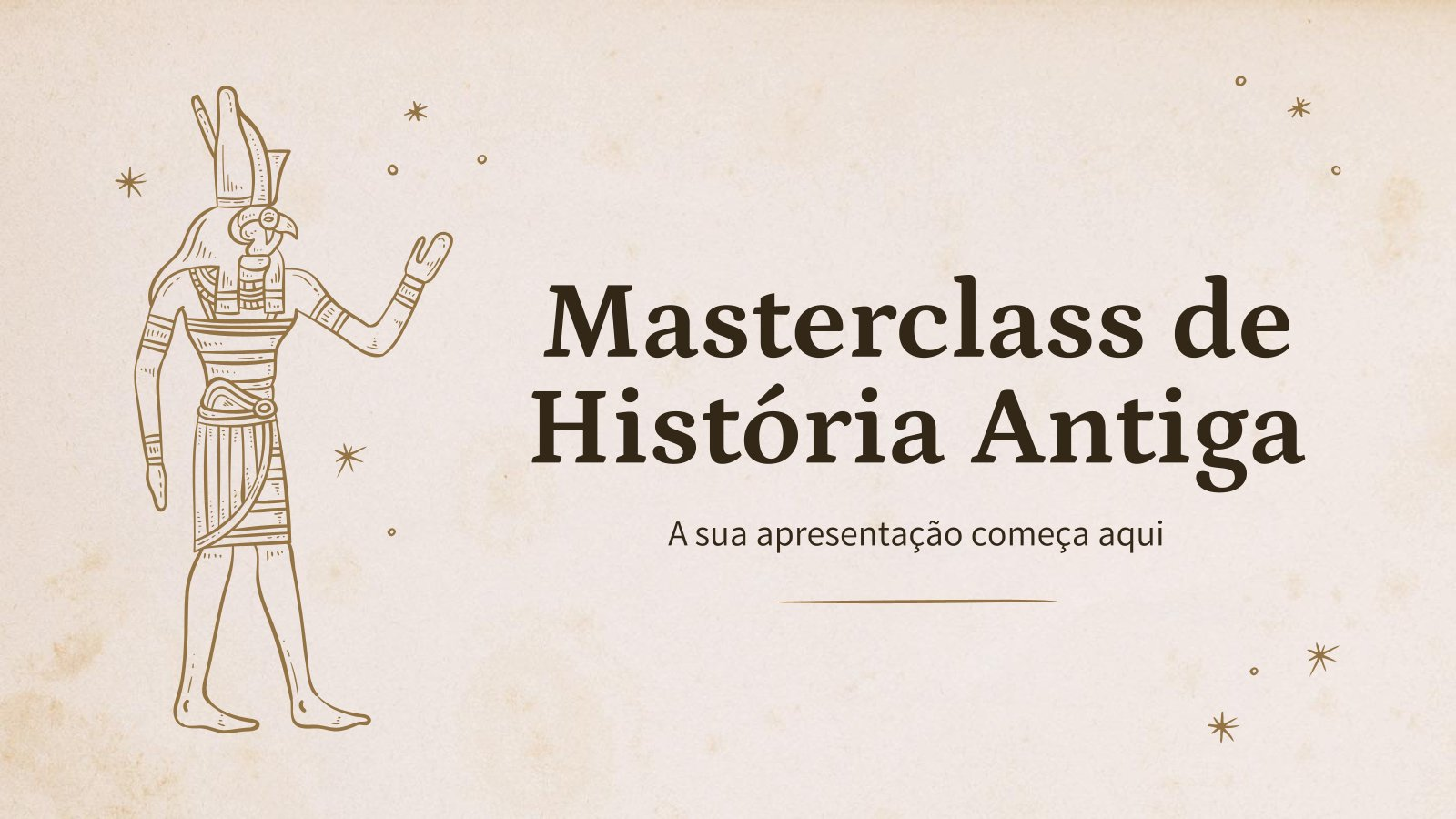 Masterclass de História Antiga : Modèles de présentation