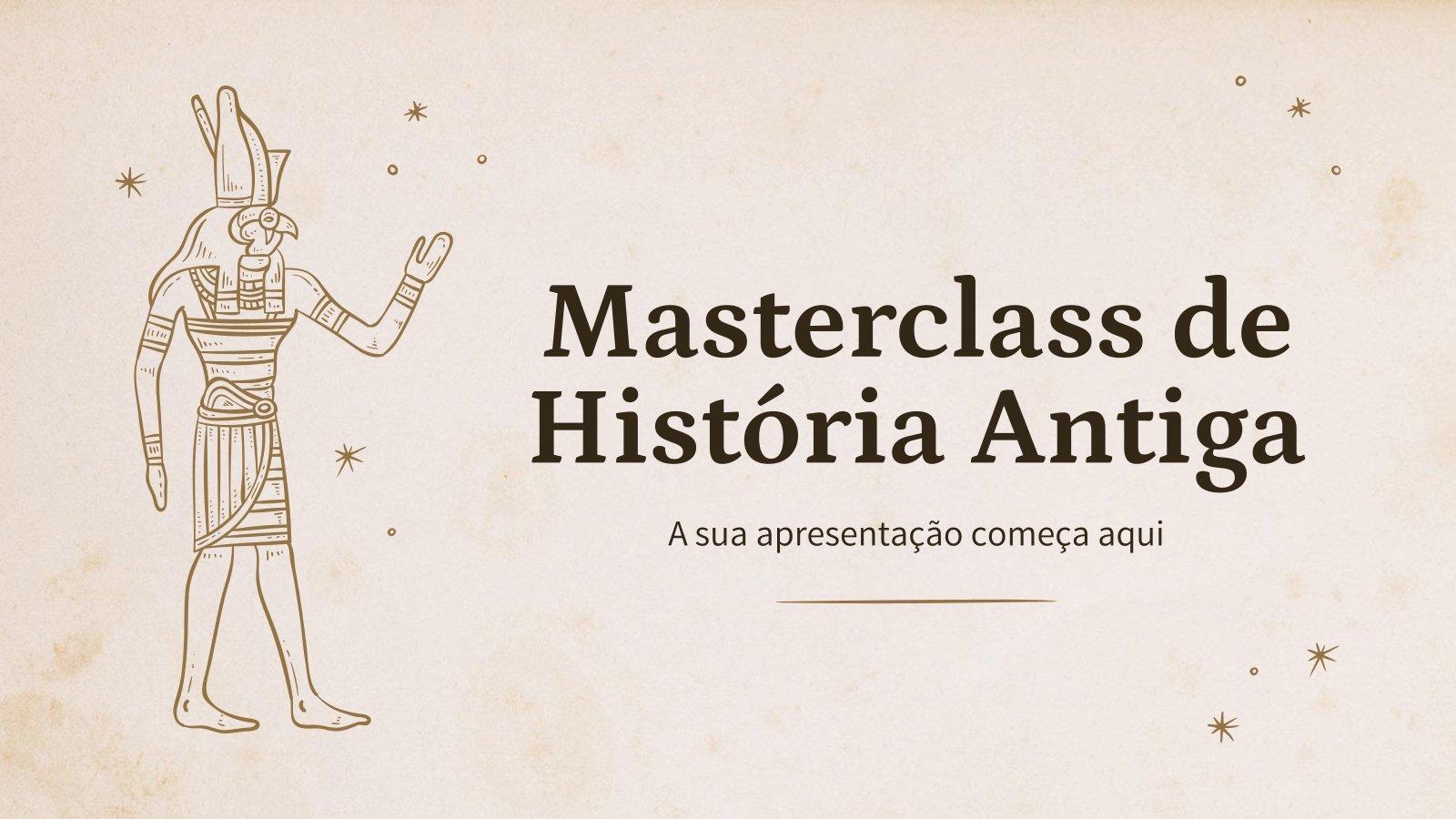 Masterclass de História Antiga Präsentationsvorlage
